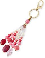 Nakamol Stone & Crystal Tassel Key Chain, Pink