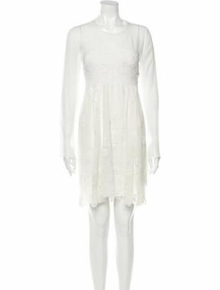 Chloé Silk Knee-Length Dress w/ Tags White
