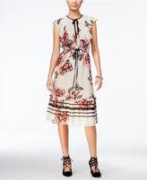 GUESS Vivien Printed Ruffled A-Line Dress