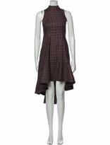 Thumbnail for your product : Paper London Plaid Print Midi Length Dress Black Plaid Print Midi Length Dress