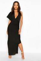 boohoo Premium Sculpting Bandage One Shoulder Midaxi Dress