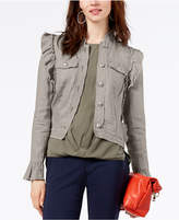 INC International Concepts I.n.c. Ruffled Linen Jacket, Created for Macy's
