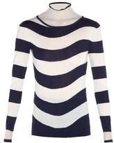 Fendi Sheer roll-neck striped sweater
