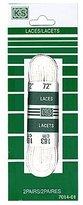 K&S KS 1 pair, sport boot laces, 72 inch, lacets blanc, 183cm