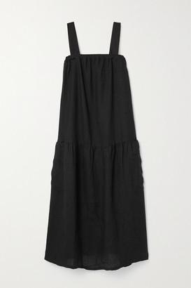 SUZIE KONDI Linen Midi Dress - Black