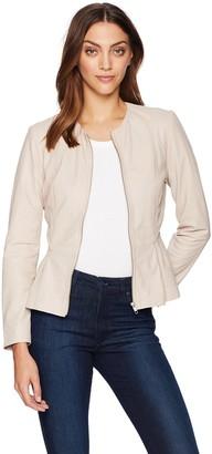 BB Dakota Women's Clary Peplum Leather Jacket