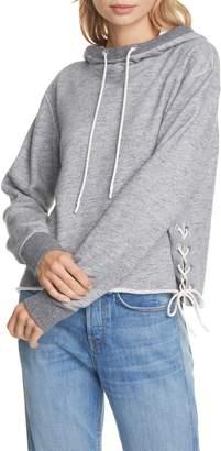 Rag & Bone Amelia Lace-Up Hooded Sweatshirt