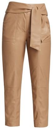 Jonathan Simkhai Tessa Vegan Leather Tie Pants