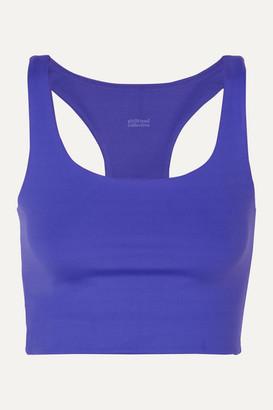 Girlfriend Collective Paloma Stretch Sports Bra - Blue