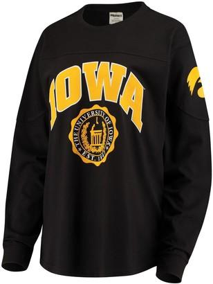 Women's Black Iowa Hawkeyes Edith Long Sleeve T-Shirt