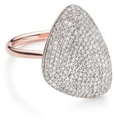 Monica Vinader Women's Nura Diamond Teardrop Ring