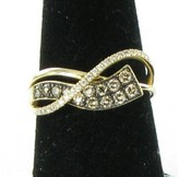 LeVian Le Vian 14K Rose Gold Honey Gold Choco Vanilla Diamonds Gladiator Wraps Ring Size 7