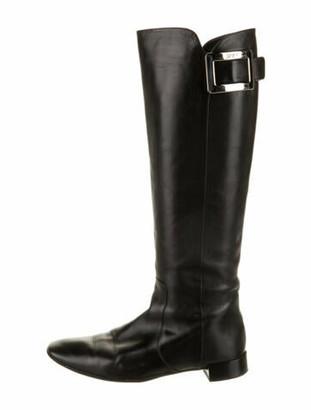 Roger Vivier Leather Riding Boots Black