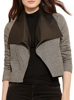 Lauren Ralph Lauren Plus Faux Leather Collar Jacket