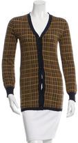 Prada Silk Two-Tone Cardigan