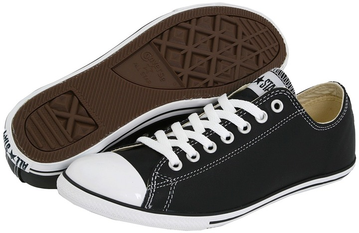 Converse Chuck Taylor All Star Slim Leather Ox (Black) - Footwear