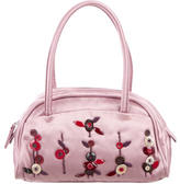 Prada Appliqué Embroidered Satin bag