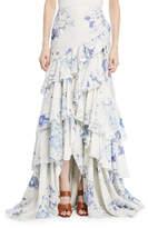 Ralph Lauren Phaedra Tiered High-Low Evening Skirt