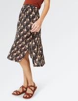Fat Face Collier Giraffe Midi Skirt