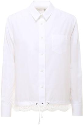 Sacai Lace Trim Shirt