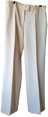 Azzaro Ecru Wool Trousers for Women