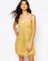 MANGO Lace Cami Mini Dress