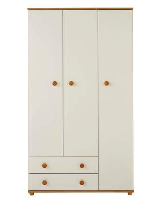 Marisota Aspen 3 Door 2 Drawer Wardrobe
