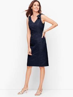 Talbots Matelasse Bow Detail Shift Dress
