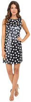 Christin Michaels Matte Sequin Dot Dress