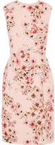 Giambattista Valli Floral-print Silk-crepe Dress - Pink