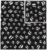 Karl Lagerfeld K/Ikonik Faces scarf