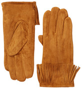 David & Young Faux Suede Fringe Gloves