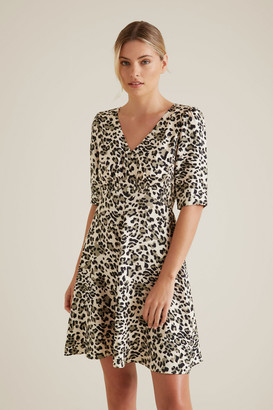 Seed Heritage Mini Shirred Animal Dress