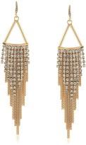 ABS by Allen Schwartz Embellished Chain Drop Earrings