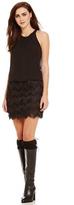 Aidan Mattox Fringe Cutout Dress 151A12290