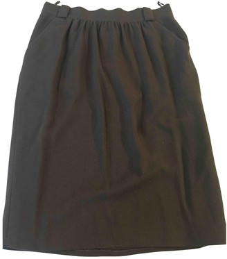 Jean Louis Scherrer Jean-louis Scherrer Brown Wool Skirt for Women Vintage