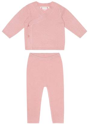 Bonpoint Baby cashmere cardigan and pants set