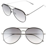 Jimmy Choo Women's Reto 57Mm Sunglasses - Shiny Black/ Grey Silver