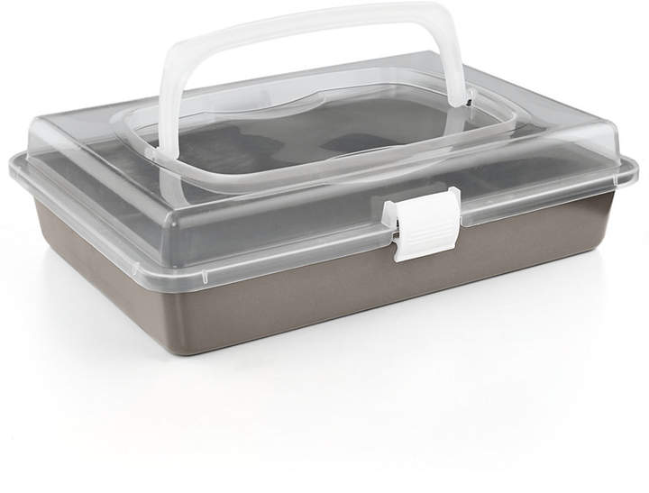 """Martha Stewart Collection Nonstick 9"""" x 13"""" Cake Pan With Carrier"""
