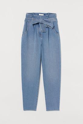 H&M Paper-bag Pants - Blue