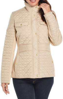 Weatherproof Stand Collar Quilted Jacket