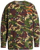 Off-White Camouflage-print cotton-jersey sweatshirt