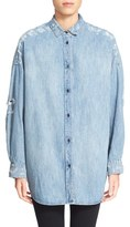 IRO 'Emira' Distressed Oversize Denim Shirt