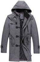 Yinhan YH Mens Winter Casual Midi-pattern Thicken Cashmere Wool Coats M