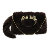 Gucci Purple Fur Handbag