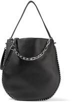 Alexander Wang Roxy Studded Textured-leather Shoulder Bag - Black