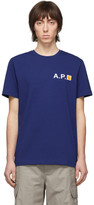 A.P.C. Blue Carhartt WIP Edition Fire T-Shirt
