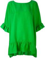 P.A.R.O.S.H. ruffle detail blouse - women - Silk - XS