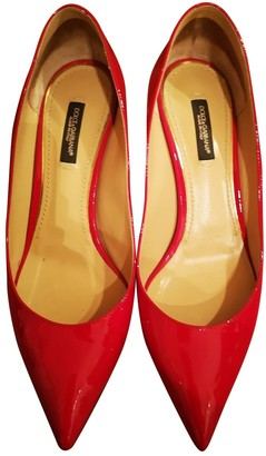Dolce & Gabbana Taormina Red Patent leather Heels