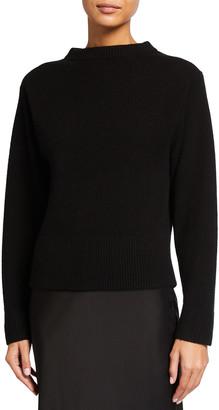 Vince Mock-Neck Cashmere Sweater